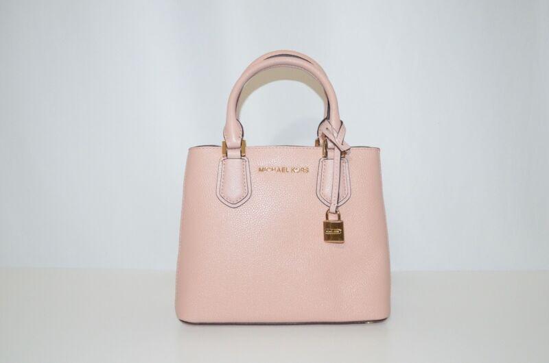 28b651f23cd6 New Michael Kors Adele Mercer Medium Messenger Bag Pastel Pink Ballet  Leather