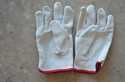 100 Leather Work Gloves Genuine Cowhide Size Small