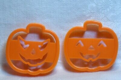 Vintage Cookie Cutter Petite Halloween - Happy & Angry Jack-o-Lanterns Pumpkins