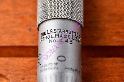 Starrett No. 445 Depth Micrometer Gage Set 0-6 3 Base Wcase . Usa Made. Vguwc