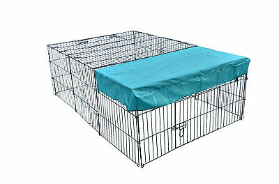 "New 72"" x 48"" Pet Playpen w/Door & Cover Rabbit Enclosure Dog Cat"