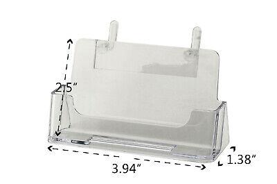 1 Pocket Peg Board Business Card Holder Display Clear Acrylic