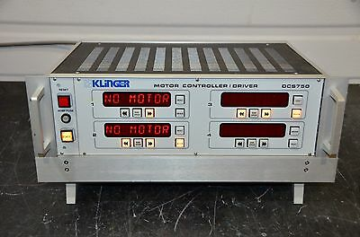 Klinger Scientific Dcs750 Motor Controller Driver 2 Axes For Ue-30cc Ue-72cc