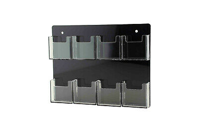 Vertical Business Card Holder 8 Pocket Gift Cards Organizer Wall Rack Qty 12