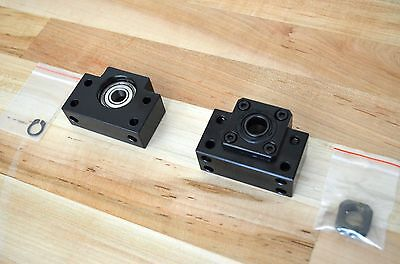New Set Of Bk12 Bf12 Ballscrew Fixed Floated End Support Blocks 12mm Id -cnc