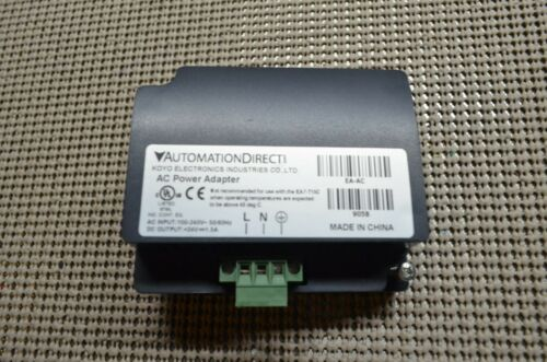 EA-AC AC/DC power adapter, 24 VDC. For use with C-more EA7 and EA9
