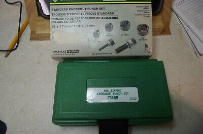 Greenlee Knockout Set 735bb New Never Used.