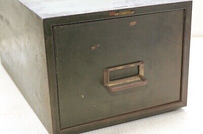 Vintage Steelmaster Single Drawer Index Card Cabinet Storage Cabinet Garage