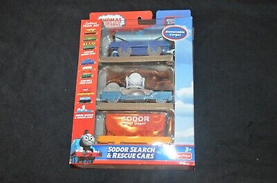 Thomas And Friends The Sodor Search & Rescue Cars Train Set OPEN BOX TRACKMASTER