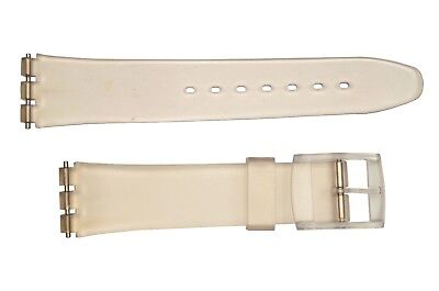Swatch Replacement 17mm Plastic Watch Band Strap frost fit - Frosted Plastic Watch