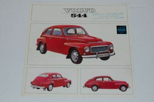 1965 Volvo 544 Sedan Sales Brochure Folder Excellent Original