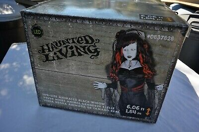 Gemmy Life- Size Animated Animatronic Halloween Black Widow Prop Mint Unopened - Gemmy Halloween Life Size