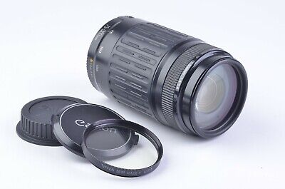 EXC++ CANON EF 75-300mm F4-5.6 LENS, CLEAN, TESTED, WITH LENS CAPS + TIFFEN UV