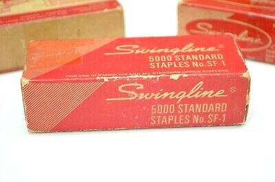 Swingline Standard Staples Lot Of 3 No Sf-1 Box Made Usa Office Supply Vintage