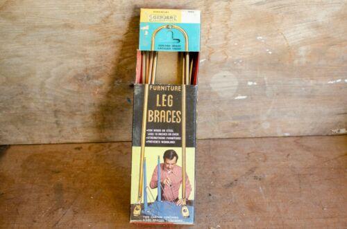 Vintage Gerber Metal Leg Braces Brackets In  Package Set Of 4