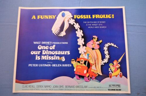 """Vintage Movie Poster,  """"One of Our Dinosaurs Is Missing"""" (1975)"""