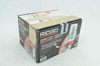 Ridgid Powerspin Plus Snake Auger Drain Cleaner Tool Pluming Ergonomic Hand Grip