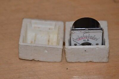 Used Vintage Lafayette Milli Amperes Meter Measures 0-1 Steampunk Gauge 2 Jewels