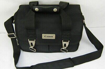 vintage Canon Large black media game camera bag with shoulder strap