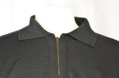 V2 Versace Men's Half Zip Pullover Sweater Size XL Wool Casual Warm Black