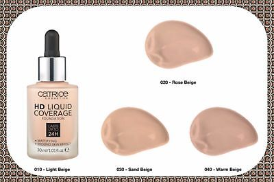 BEST CATRICE Liquid Coverage Foundation 24h Mattifying Second Skin Effect