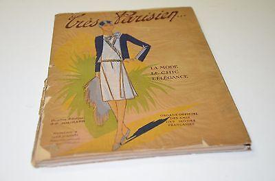1928 Tres Parisien Paris Fashion Magazine Porchoir Prints & Plates # 4 Art Deco