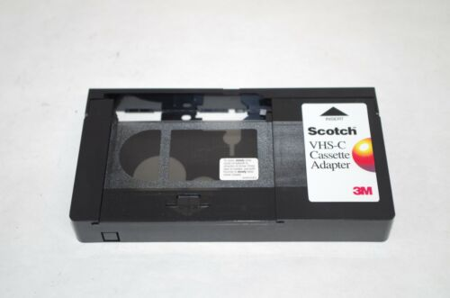 VHS-C Cassette Tape Adapter Scotch 3M