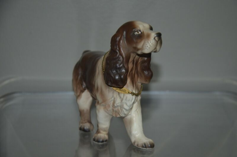 Vintage English cocker Spaniel Porcelain Dog Figurine Japan