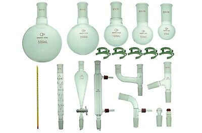 Proglass Glass Organic Chemistry Kit 2440 Lab Glassware Set