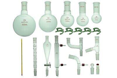 Proglass Glass Organic Chemistry Kit 2440 Lab Glassware Set