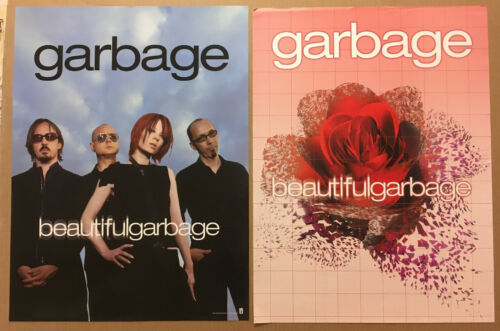 GARBAGE Rare 2001 DOUBLE SIDED PROMO POSTER for Absolute CD 18x24 NEVER DISPLAYD