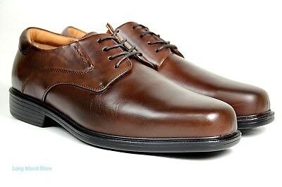 Mens Wide Dress Shoes - La Milano Mens Dress Shoes Genuine Leather Brown, Extra wide (EEE) lace up A1719