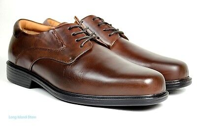 La Milano Mens Dress Shoes Genuine Leather Brown, Extra wide (EEE) lace up A1719 - Extra Wide Mens Dress Shoes
