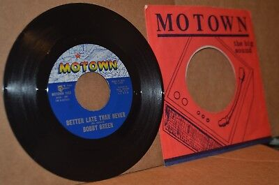 BOBBY GREEN: BETTER LATE THAN NEVER & HOW CAN WE TELL HIM; OBSCURE MOTOWN 45 RPM
