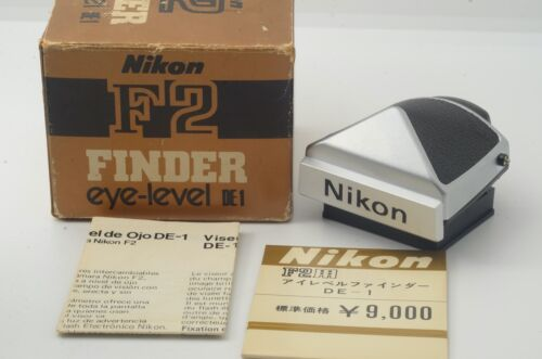 """""""APPEARANCE MINT"""" NIKON DE-1 CHROME EYE LEVEL VIEW FINDER FOR F2 FROM JAPAN"""