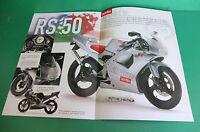 Aprilia Rx50 Rs50 Classic Pubblicita Brochure Depliant Pieghevole Catologue -  - ebay.it