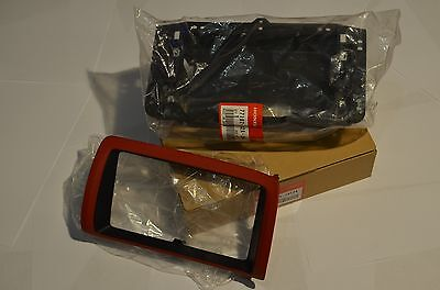 "Honda S2000 S2K OEM JDM Navigation Bezel Trim Double Din Dash 7"" LCD Genuine Red"