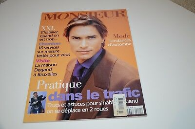 1997 Monsieur Mens Fashion Magazine Paris Edition Watch Clothing Ads Montaigne