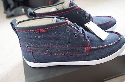 Mens GRAVIS Navy Yacht Master Trainers / Shoes /Ankle Boots Size UK 10 EUR 45