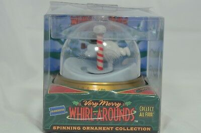 Very Merry Whirl Arounds Blockbuster Spinning Ornament Frosty the Snowman NIP
