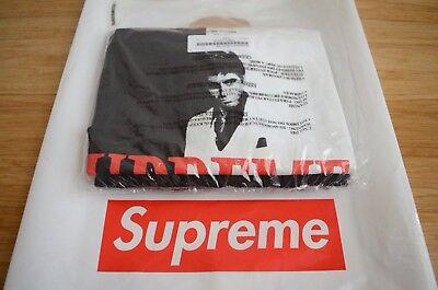 Supreme Scarface Split Tee Shirt Black Grey size M medium FW17