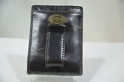 JACK MASON Wallet NORTH CAROLINA Leather Pocket MultiCard Holder Money Clip K65