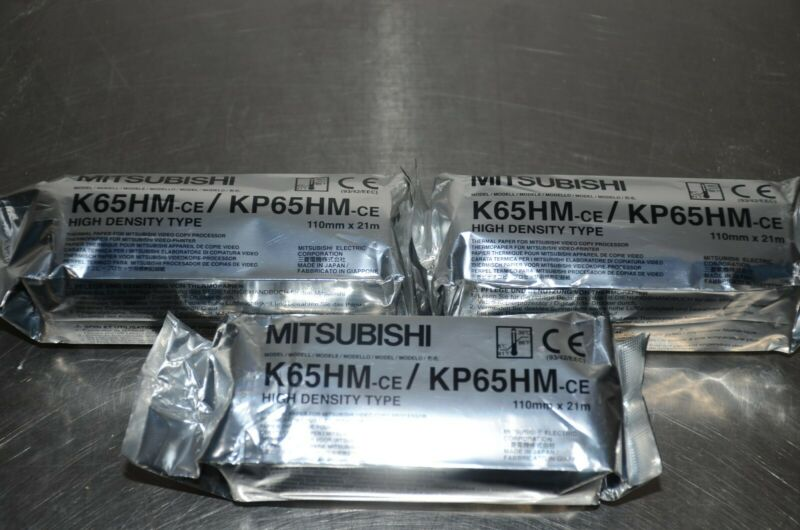 Mitsubishi K65HM-CE High Density Paper LOT OF 3 Rolls