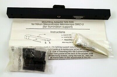 Nikon Mxe22044 Mounting Adapter Ns-588 For Stereoscopic Microscope Smz-u