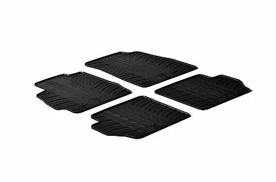 All Weather Rubber Floor Mats fits Scion iA  Mazda2   4 Piece Set   Black