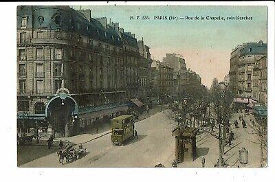 CPA-Carte Postale -FRANCE -Paris -Rue de la Chapelle  coin Karcher  VM6356