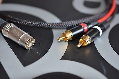 Rca Phono Lead - HQ 2 Phono / RCA to B&O Bang & Olufsen Naim Quad (5 Pin Din) Cable/Lead 1m