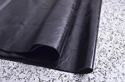 Used, 1mm High Quality Glossy Black Leather Fabric For Sofa/Car Seat,Sold by Half Yard for sale  Shipping to Canada