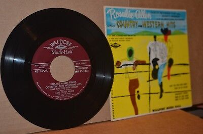 ROSALIE ALLEN: SINGS COUNTRY & WESTERN HITS; MINT- 45 RPM EP & CARDBOARD COVER