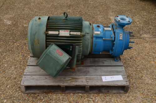 """Goulds Model #3298 Centrifugal Pump 3""""x4"""" RPM 3600, HP 75, GPM 380, Teflon Lined"""